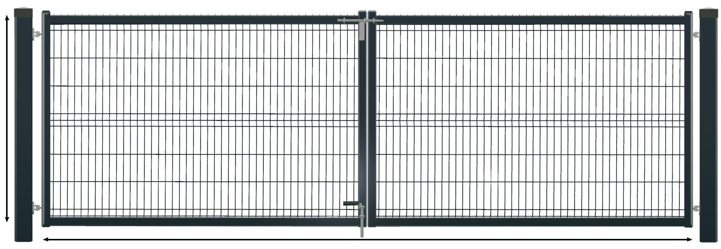 brama panel skrzydłowa